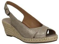 Sandali e scarpe formale zeppa marrone per il mare da donna