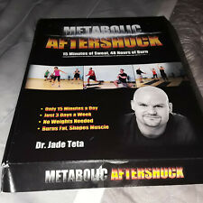 Metabolic Aftershock 4 DVD set !fitness band unopened! Dr. Jade Teta Good Cond