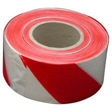 Lufkin BARRICADE TAPE White & Red Plastic For Sectioning Off Work Areas 100m