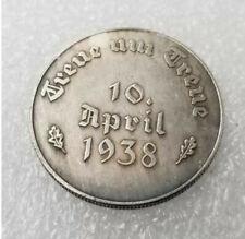Piece Hitler 1938 10RM Reichsmark Coin 10 April 1938 ww2 German
