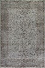 4x7.2 Ft  Gray Color OVERDYED Handmade Vintage Turkish Rug   c49