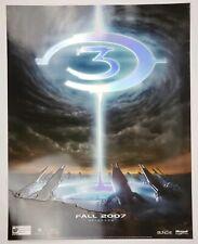 "Vintage Halo 3 Microsoft XBOX Promotional Launch Poster 22"" x 28"" Metallic Rare"