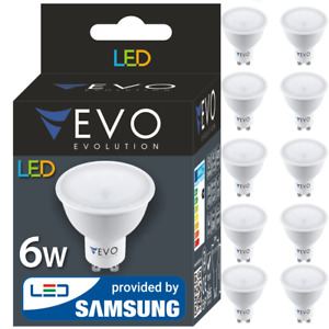 LED Lampe GU10 6W 10er Pack 2835 SMD Samsung 3000K 4000K 6500K 120°