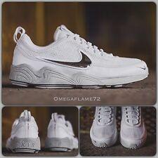 NikeLab Bianco Argento Zoom Spiridon 849776-100 UK 8.5 EUR 43 USA 9.5 Nike