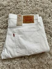 NWT Mens Levis 511 Slim fit Stretch Classic White Summer Jeans 36x32