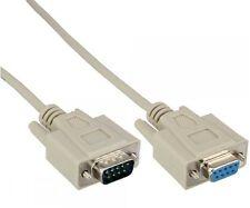 15m rs232 rs-232 verlängerung extension seriell com kabel 9pol stecker buchse