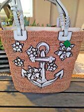 Brighton NWT Dockside Anchors Away Straw Purse/handbag $360