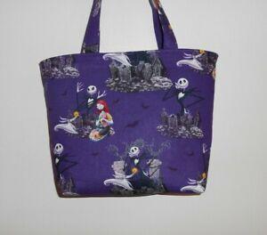 Handmade Nightmare Before Christmas Tote Purse Bag