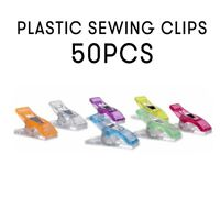 50x Plastic Holding Clip Set for Crafts Quilting Sewing Knitting Crochet DIY