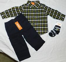 Navy Pant Set Gymboree 4pc Flannel Shirt Fall Winter Boy 18-24 month New