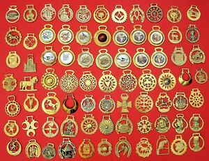VINTAGE COLLECTABLE HORSE BRASSES - CHOOSE FROM LIST ALL WITH PHOTO'S  LOT S4