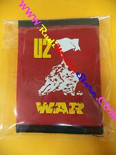 PORTAFOGLIO Wallet U2 War ROSSO RED 10x14 cm BONO VOX no*cd dvd lp mc vhs live