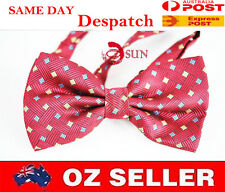 MEN BOWTIE TUXEDO BOW TIE Red Square Design  Wedding PARTY BALL HIGH Quality