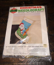 Bucilla Christmas Needlecraft #8010 Santa's Sled Christmas Stocking