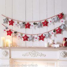 Adventskalender Sterne zum Selbstbefüllen Selberfüllen Weihnachten Deko