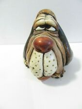 BASSET HOUND DOG FIGURE PAPERWEIGHT SIGNED RAYA BEASTIES FLORIDA