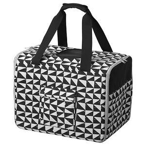 Ikea LURVIG Pet travel bag white/black  for cat/dog 104.648.72