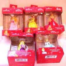 4 Hallmark Disney Princess Ornaments NEW in Box & 1 Barbie * Belle Cinderella ++