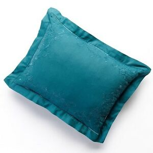 """CHAPS Home ANNABELLE Bedding PILLOW Size: 15 x 20"""" NEW Teal Oblong"""