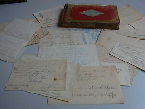 Album Amicorum From Franz Willers 1848-1852, v. A. Paris & Basel, 25 Bll