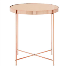 Side Table Round Mirrored Large Coffee End Lamp Contemporary Table