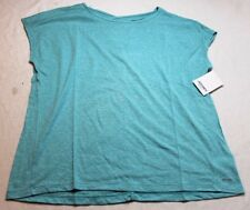 Jockey Women's Free Flow Jersey Tee T Shirt Tropical Teal Size Large L New NWT