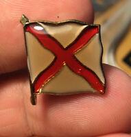 Nautical Flag enamel pin NOS vintage semaphore V hat lapel bag retro cross ship