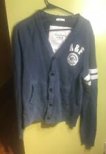 MENS ABERCROMBIE AND FITCH MUSCLE VARSITY CARDIGAN BUTTON DOWN SZ XL JACKET