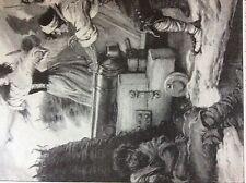 m5-1b ephemera 1912 book plate the maid of saragosa death or victory