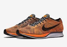 NEW! Nike Flyknit Racer Running Shoes Orange / White / Grey Sz 13 526628 810