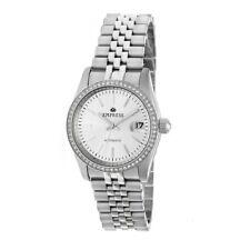 Empress Constance Automatic Women's Silver Bracelet Watch w/ Date EM1501