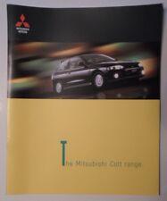 MITSUBISHI COLT HATCHBACK RANGE orig 1999 UK Mkt Large Format Sales Brochure