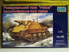 HETZER WWII GERMAN RECONNAISSANCE TANK 1/72 UNIMODEL UM 395