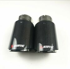 2 pcs Akrapovic exhaust tips 101mm outlet diameter
