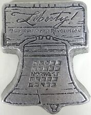 Vtg Liberty Bell Paperweight Metal Norwest Bank Promo Gift Bicentennial 1976