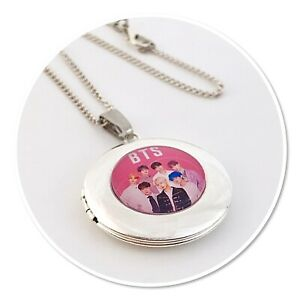BTS  ** BANGTAN BOYS **BOY BAND  K POP Round Locket necklace