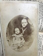 Victorian CDV Creepy Haunting Cabinet Photo - Mother & Child - Post Mortem?