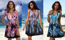 Sommerkleid Strandkleid Kleid bunt gemustert Kofferkleid NEW @ buy.2