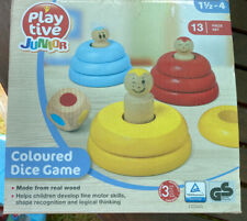 Toy Game Playtive Junior Coloured Dice Game Boxed Wooden No Dice