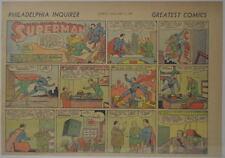 SUPERMAN SUNDAY COMIC STRIP #2 Nov 12, 1939 2/3 FULL Philadelphia Inquirer RARE