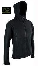 Mens Military Army Combat Hoodie Zip Fleece Hoody Sweat Shirt Jacket Top Black