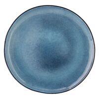 Bloomingville Teller Speiseteller Sandrine Blue aus Keramik Handmade Ø 28,5 cm