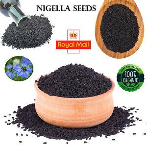 Organic Nigella Sativa Black Seeds Pure (Kalonji) A-Grade Premium Quality 1kg UK