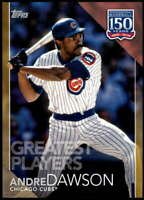 Andre Dawson 2019 Topps Update 150 Years of Professional Baseball 5x7 Gold #150-