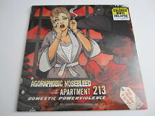 AGORAPHOBIC NOSEBLEED / APARTMENT 13 Domestic Powerviolence LP COLOR WAX SEALED
