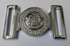 Genuine Dominica Police Force Chrome Belt Buckle insignia Chrome Locket MFB38X