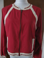 Free People Women's Ruby Crocheted Trim Sporty Lightweight Jacket Size Large NWT