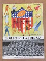 1948 NFL CARDINALS @ PHILADELPHIA EAGLES WORLD CHAMPIONSHIP FOOTBALL PROGRAM