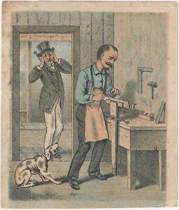 1900s Wentworth Patent Saw Vises Color Illustration of Workshop Tools Woodshop
