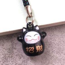 Fortune Lucky Beckoning Cat Maneki Neko Keyring Keychain Key Ring Chain Gift I